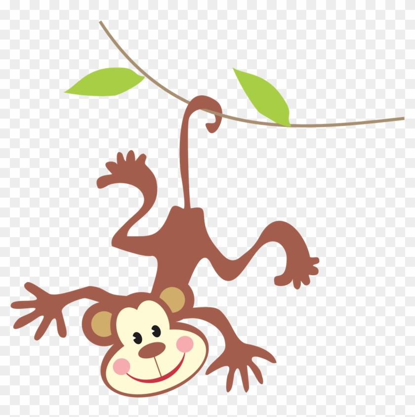 Monkey Clipart - Monkey See Monkey Do Twin Sibling T-shirts #5693