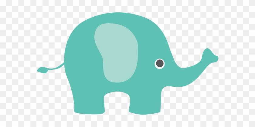 Elephant Clipart Teal - Elephant Clipart Png #5704