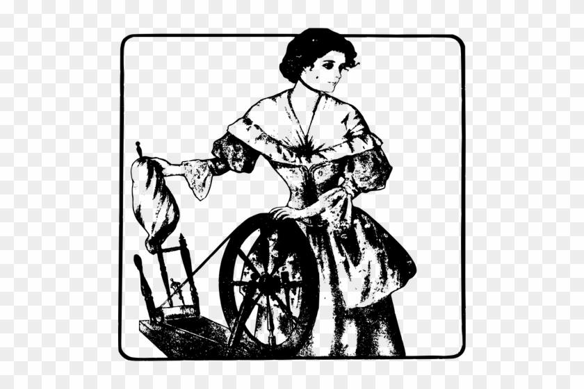 18992 Black Woman Clipart Free Public Domain Vectors - Woman On A Spindle #5708
