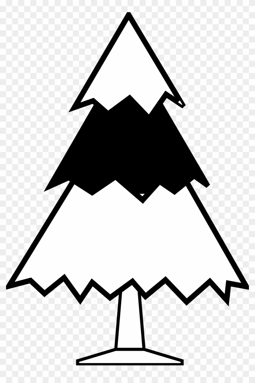 Present Black And White Christmas Present Clipart Black - Tree Line Drawing Clip Art #5741