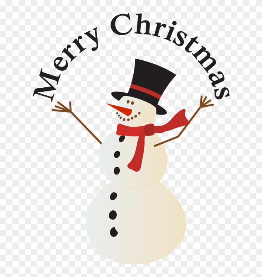 Merry Christmas Snowman Clipart - Merry Christmas Snowman Clipart #5749