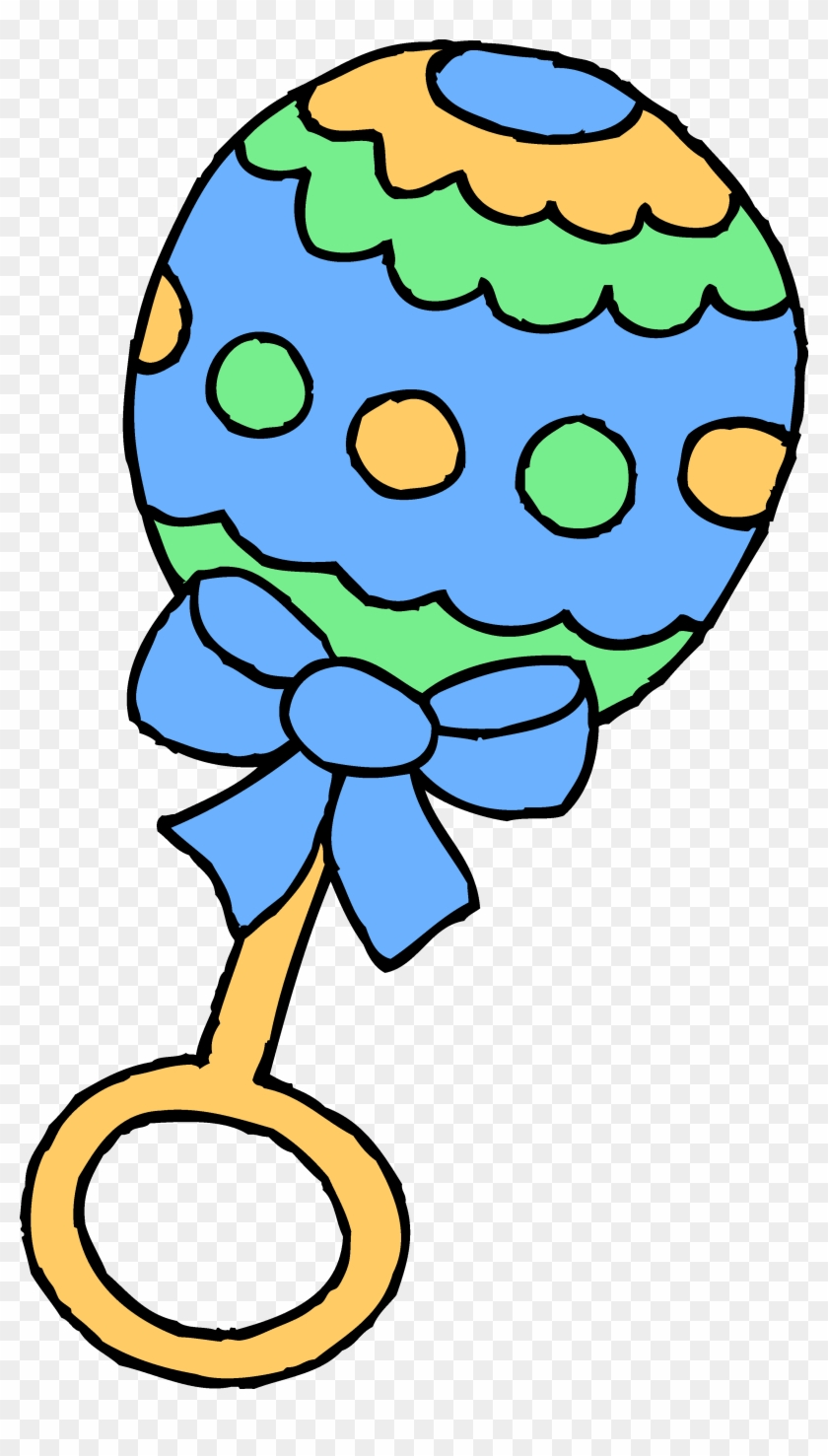Blue Clipart Baby Toy Pencil And In Color Blue - Clip Art Baby Rattle #5761