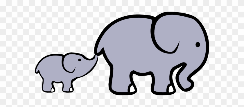 Elephant And Baby Cartoon #5766