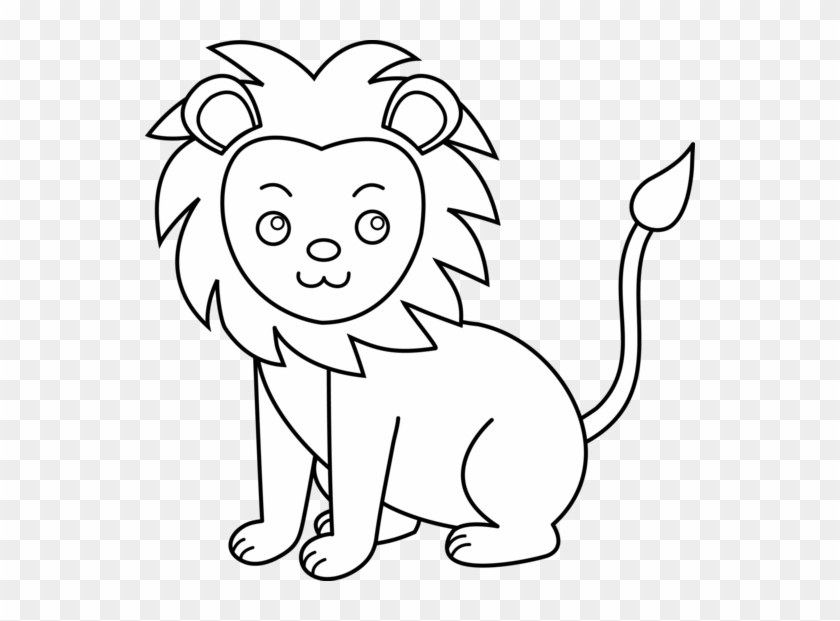 Lion Black And White Lion Clip Art Black And White - Black And White Lion Clip Art #5786