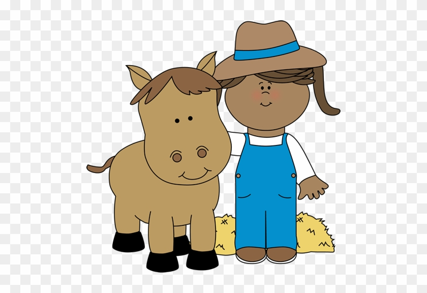 Farm Girl With A Horse - Girl With A Horse Clipart #5834