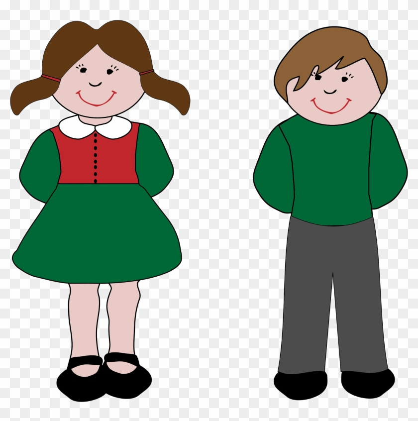 Big Image - Clip Art Boy And Girl #5852