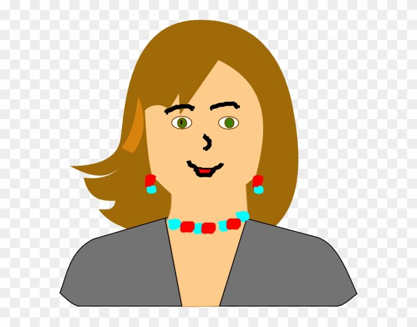 Brown Hair Clipart Teacher Face - Head Teacher Clip Art #5873