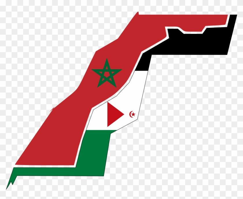Big Image - Western Sahara Flag Map #5883