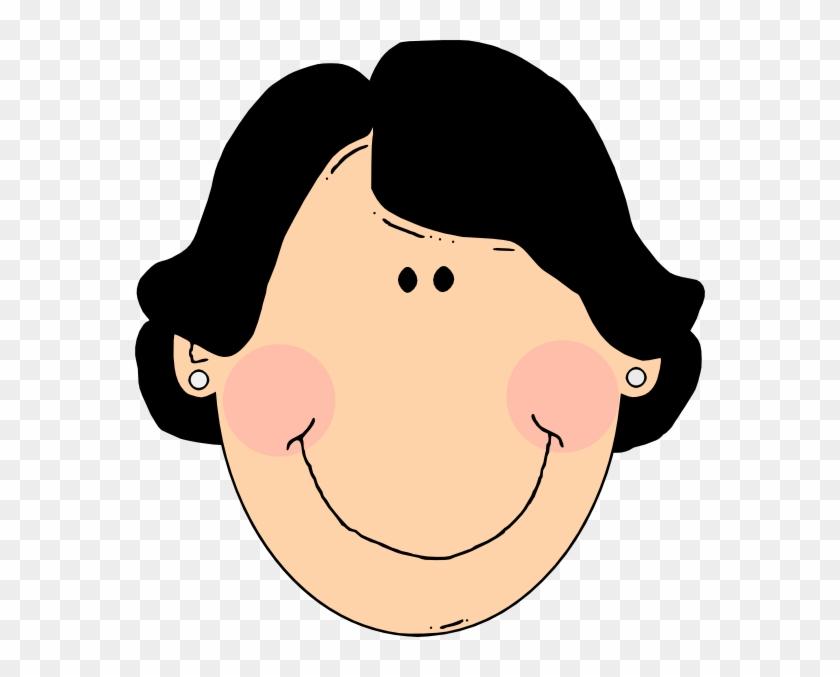 Latina Woman Clip Art - Grandma Cartoon Brown Hair #5909
