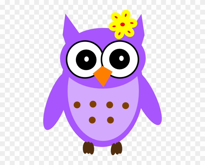 Purple Baby Girl Owl Clip Art - Owls Clipart Png #5916
