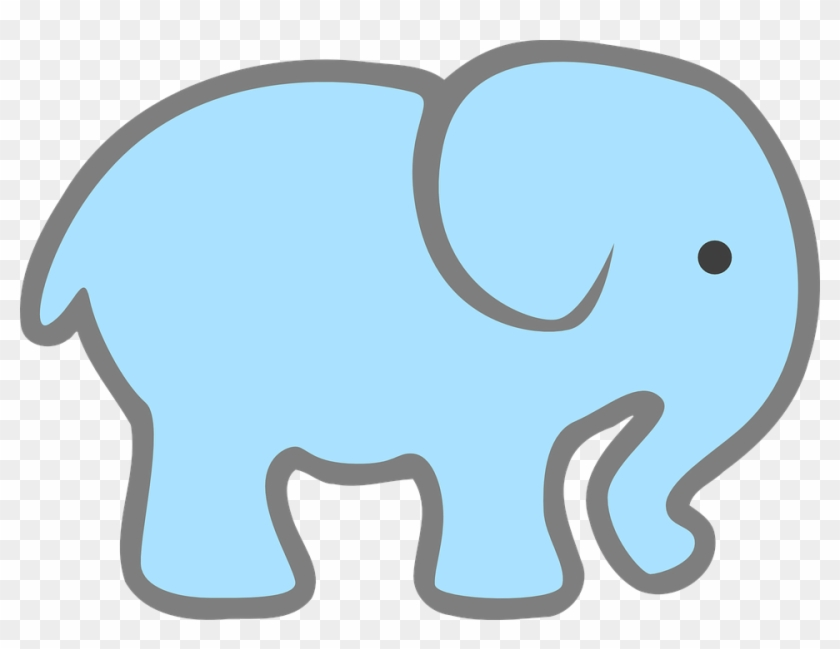 Free Baby Elephant Clip Art - Pink Elephant Cut Out #5919