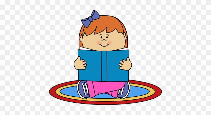 Girl Reading On A Rug Clip Art - Clipart Boy Reading #5954