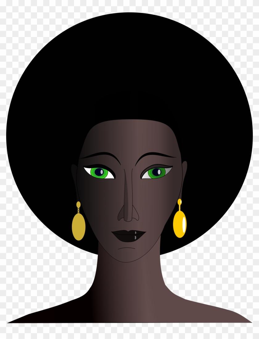 Mean Black Hair Young Woman Clipart Clip Art Library - Black Woman Clipart #5998