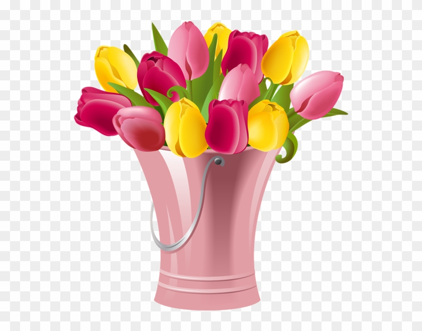 Spring Bucket With Tulips Transparent Png Clip Art - Happy Birthday To Mother In Law #5997