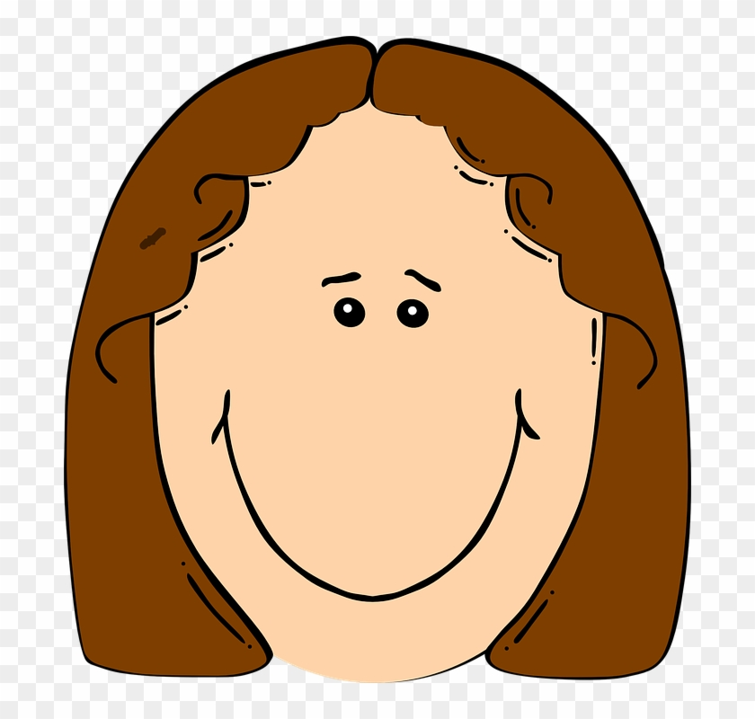 Happy - Girl - Clipart - Girl Face Cartoon #6006