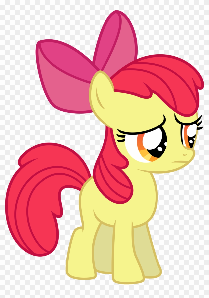 Clipart - Mlp Applebloom Sad Vector #6014