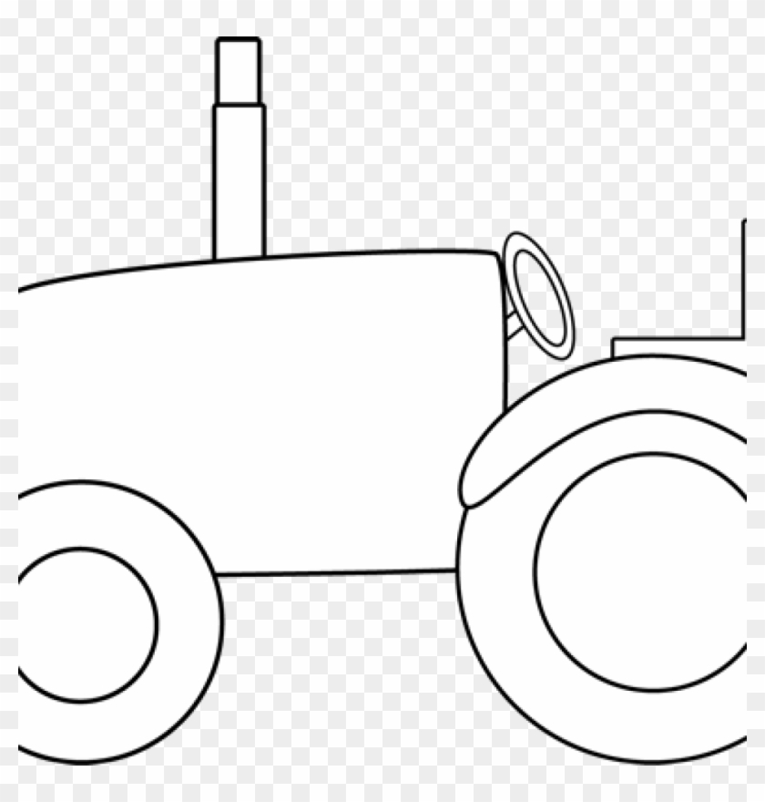 Tractor Clipart Black And White Black And White Tractor - Clip Art #6023