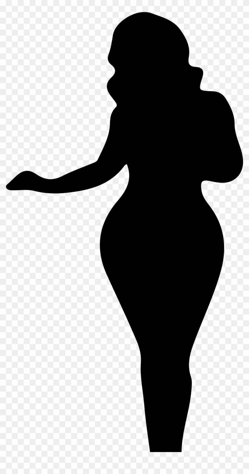 Clipart - Silhouette Of A Woman #6026