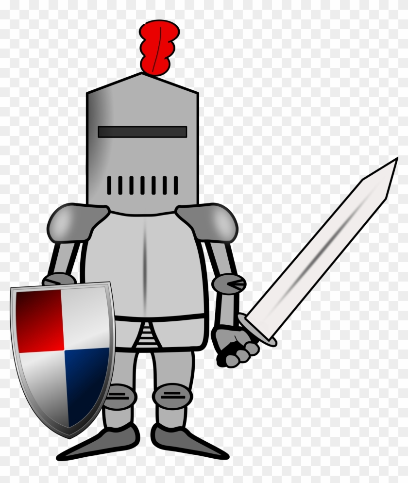 Majestic Looking Knight Clip Art Clipart Ritter Big - Knight In