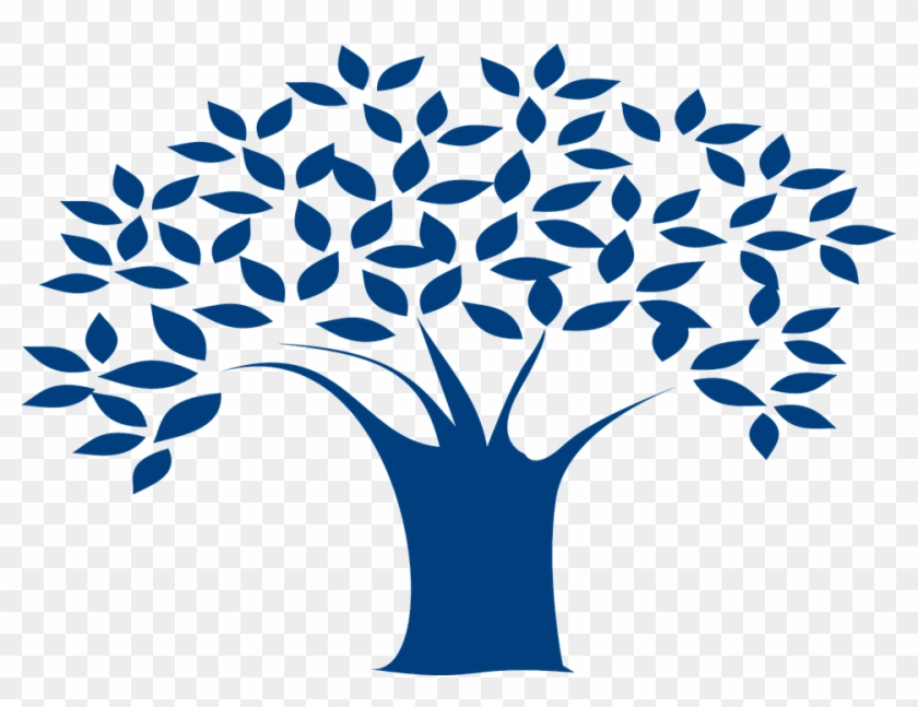 Tree Branches Leaves Blue Nature Design Floral - Tree Branches Leaves Blue Nature Design Floral #612