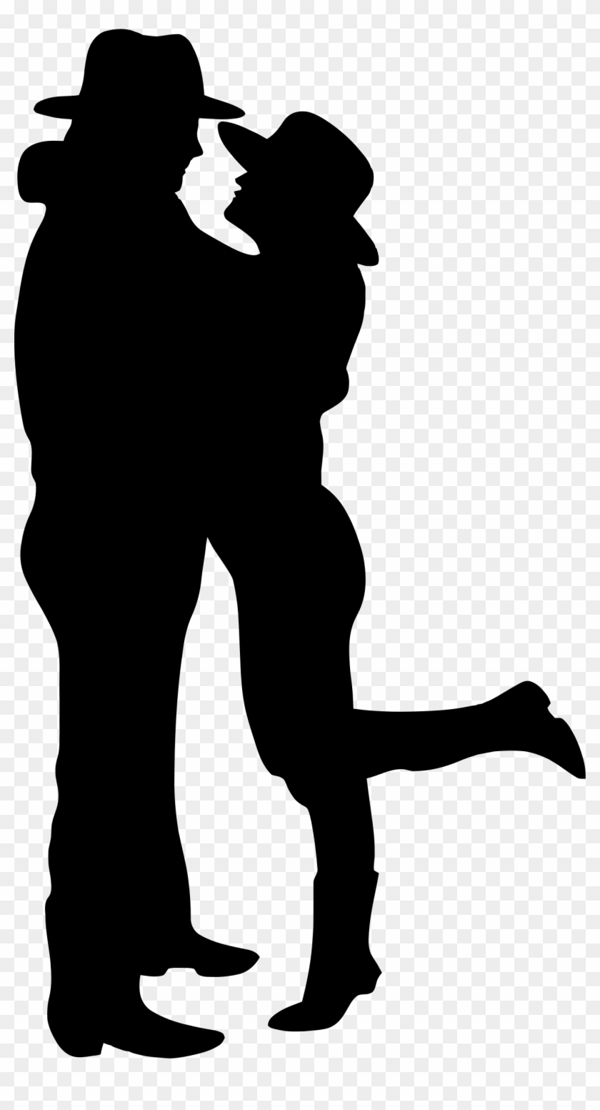 Cowboy Clipart Silhouette - Cowboy And Cowgirl Silhouette #6047