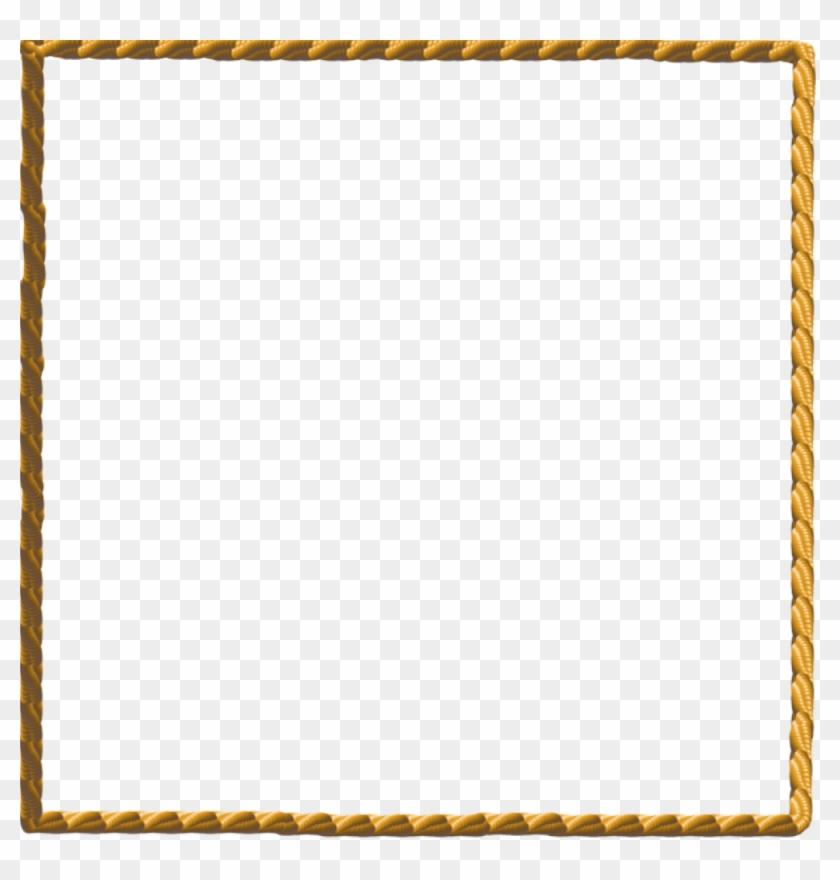 Pin Rope Border Clip Art Use To Create A T Shirt Decal - Gold Rope Border Png #6079