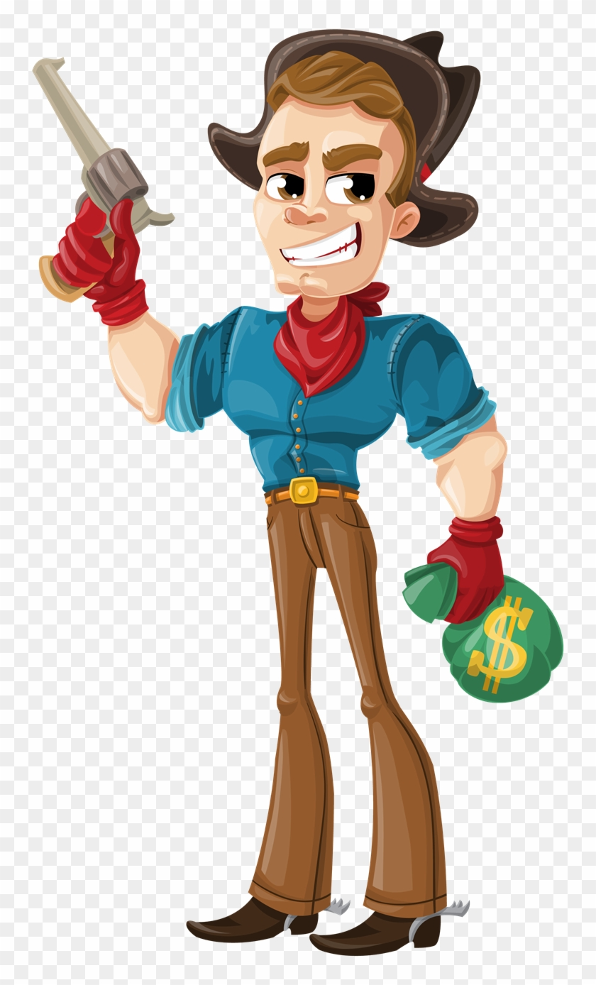 Free Cartoon Western Outlaw Clip Art - Cartoon Western Png #6084