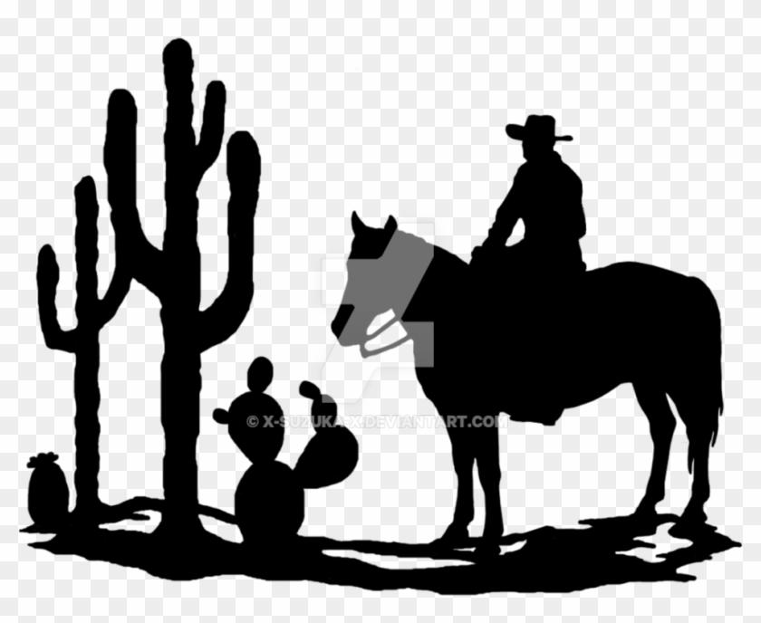 Western Silhouette Clipart Panda - Western Silhouette #6093
