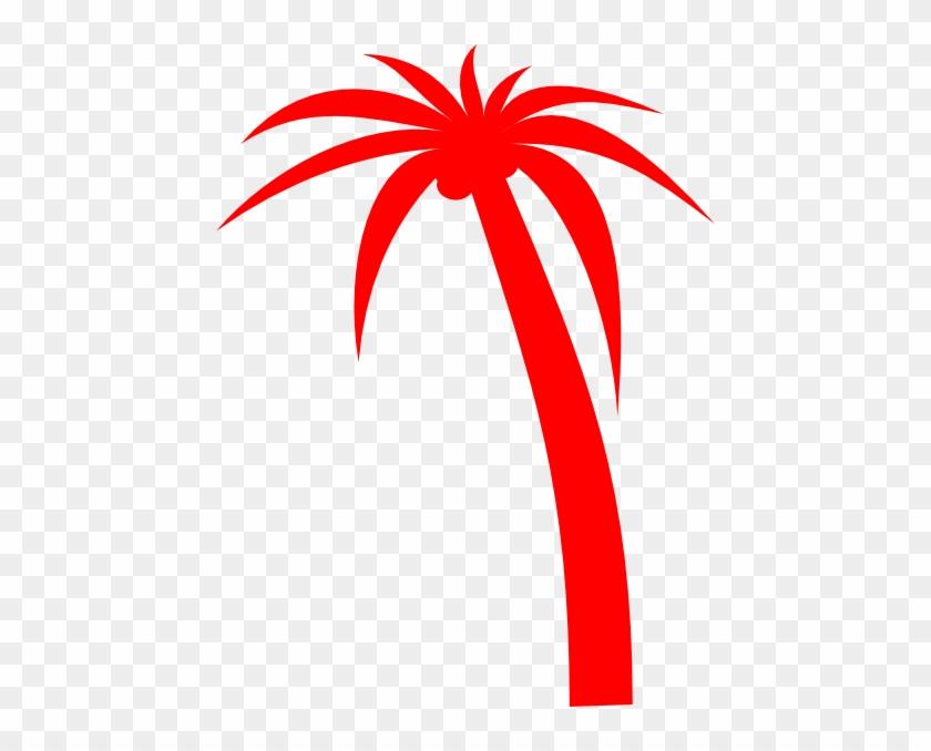 Red Palm Tree Clip Art - Red Palm Tree Clip Art #602