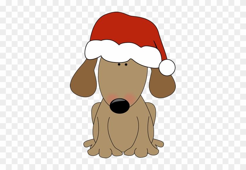Dog Wearing A Santa Hat - Dog Santa Hat Clipart #6116