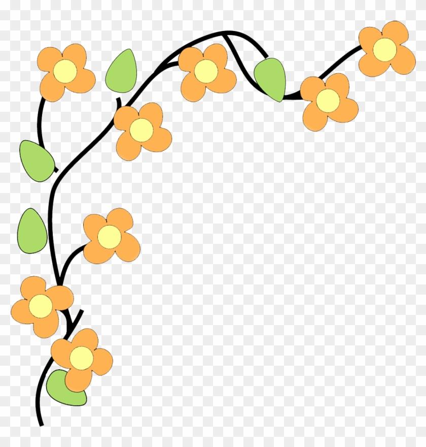Flower Border Free Printable Clip - Flower Clipart Border Transparent #6117