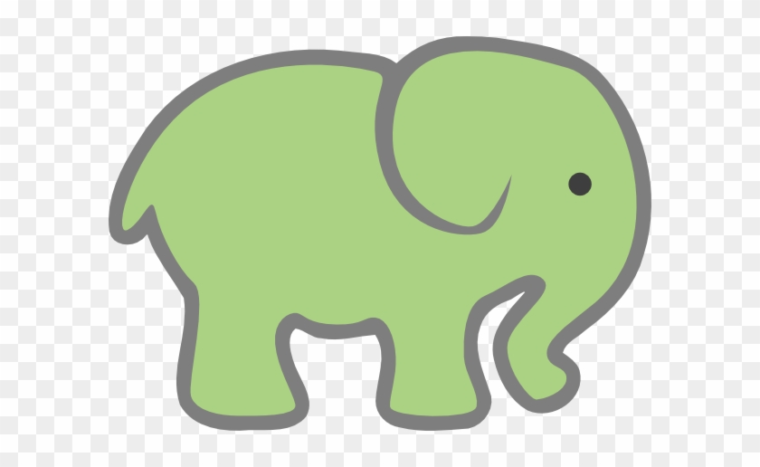 Baby Green Elephant Clip Art - Pink Elephant Cut Out #6165