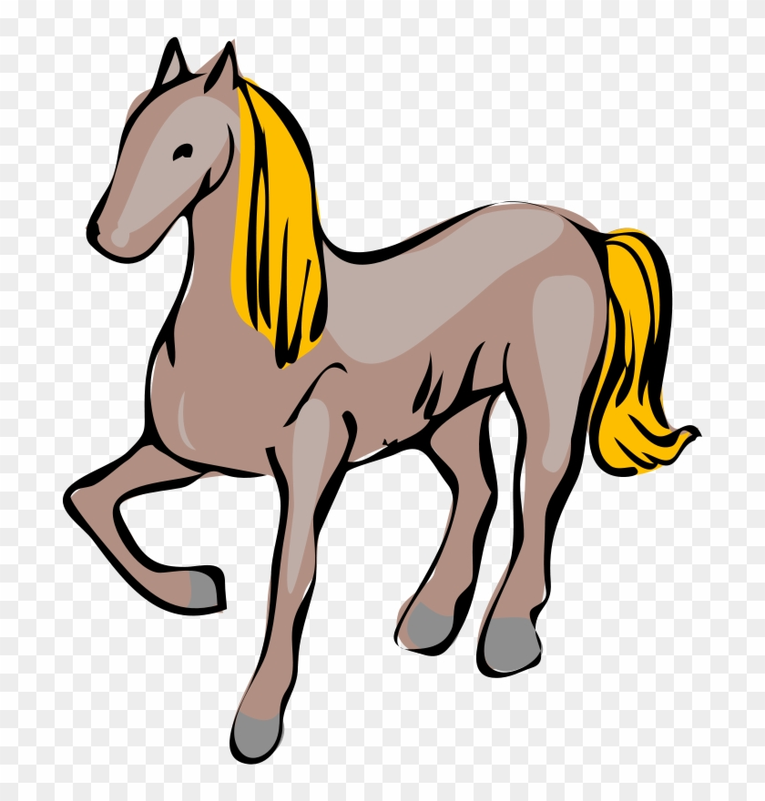 Cartoon Horse Svg Clip Arts 522 X 594 Px - Cavallo Clipart #6171