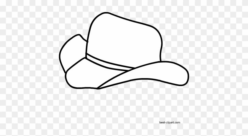 Black And White Cowboy Hat Clipart Free - Cowboy Hat #6203