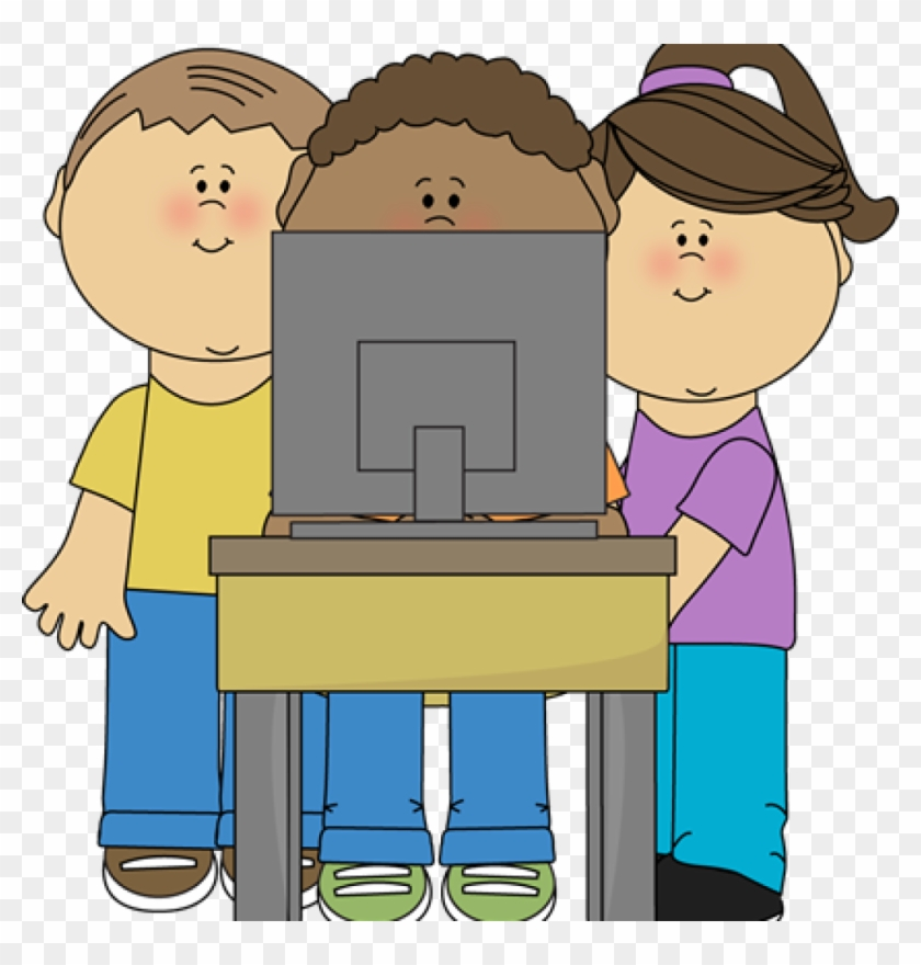 Computer Clipart Kids Using School Computer Clip Art - 4 Cognitive Learning Theories #6232