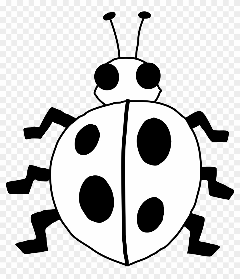 Rhino - Clipart - Black - And - White - Ladybug Black And White Clipart #6253