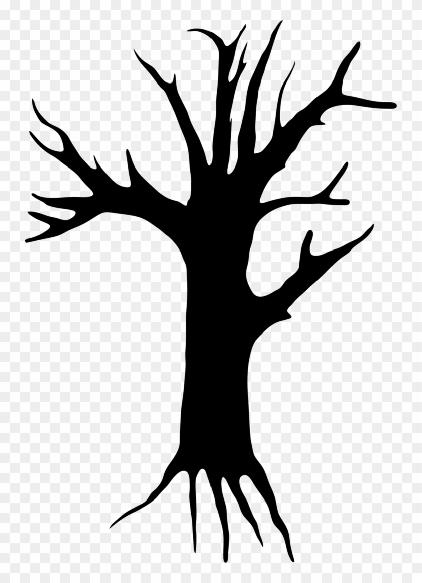 Creepy Tree Clipart - Creepy Tree Clipart #616