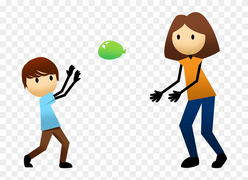 Balloon Volleyball - Balloon Toss Clipart #6278
