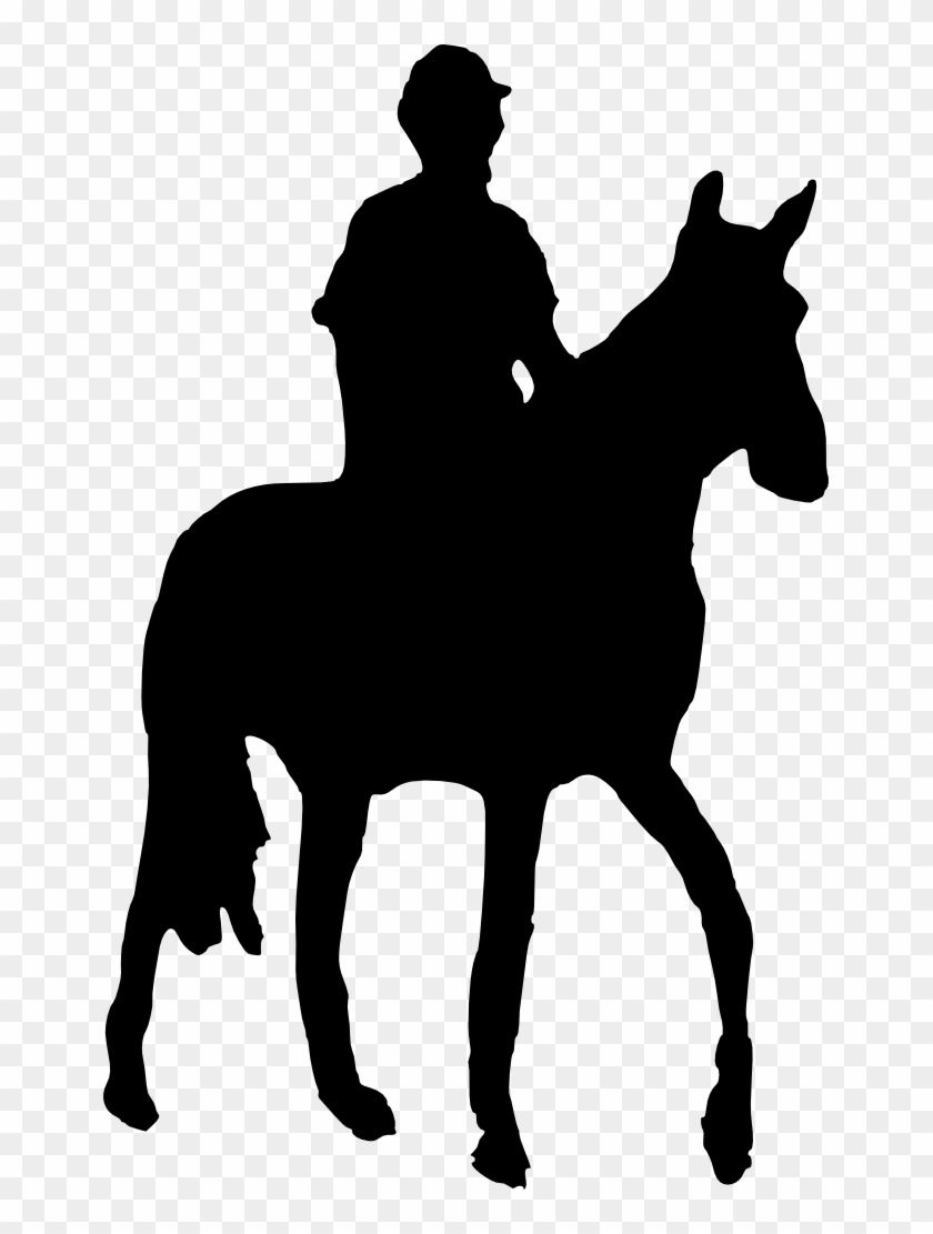 Western Horse And Rider Silhouette - Man On Horse Silhouette #6286