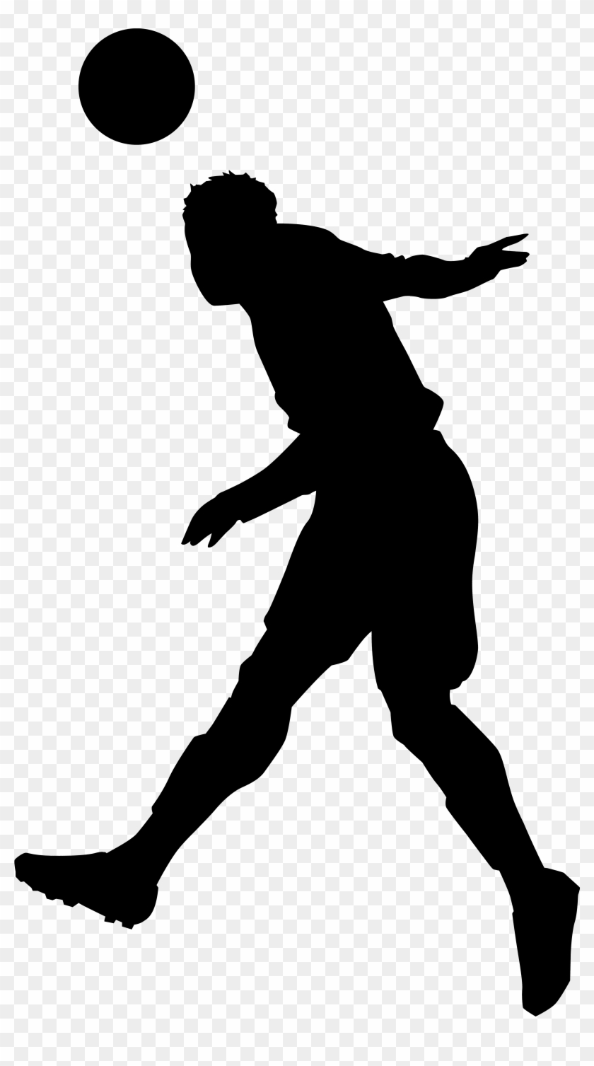 Footballer Silhouette Png Clip Art Imageu200b Gallery - Soccer Player Silhouette Png #6334