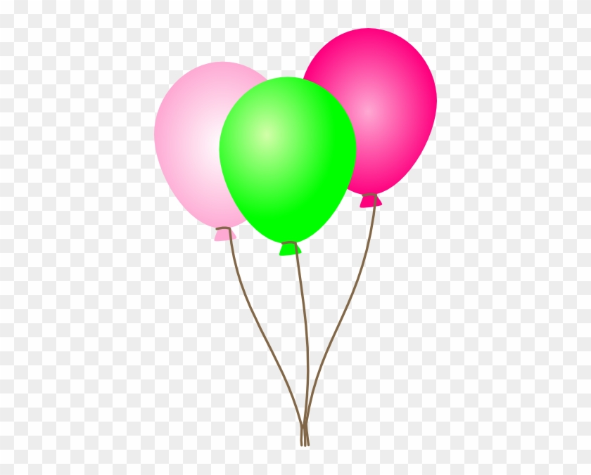 Pink Balloons Clipart Free Images - Pink And Green Balloons #6312