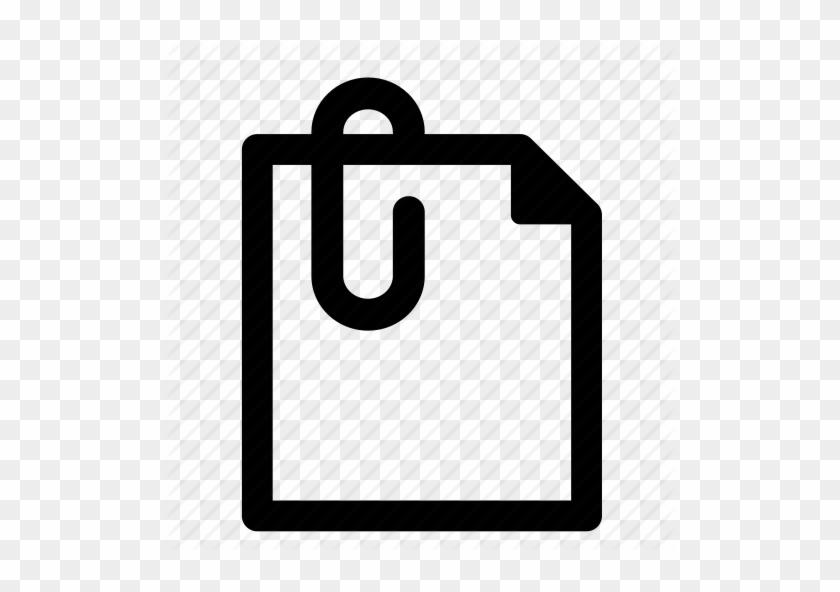 Paper Clip Icon - File Work Icon #6320