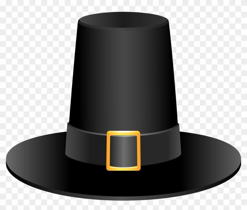 Hat Thanksgiving Clipart - Pilgrim Hat Clip Art .png #6331