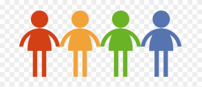 Community Crowd Group Man Men Women Woman - Clipart People Holding Hands #6324