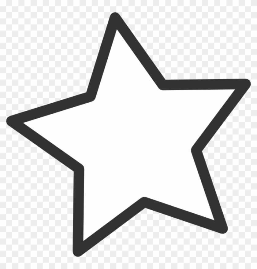 Star Clipart Black And White White Star Clip Art At - Star Clipart #6336