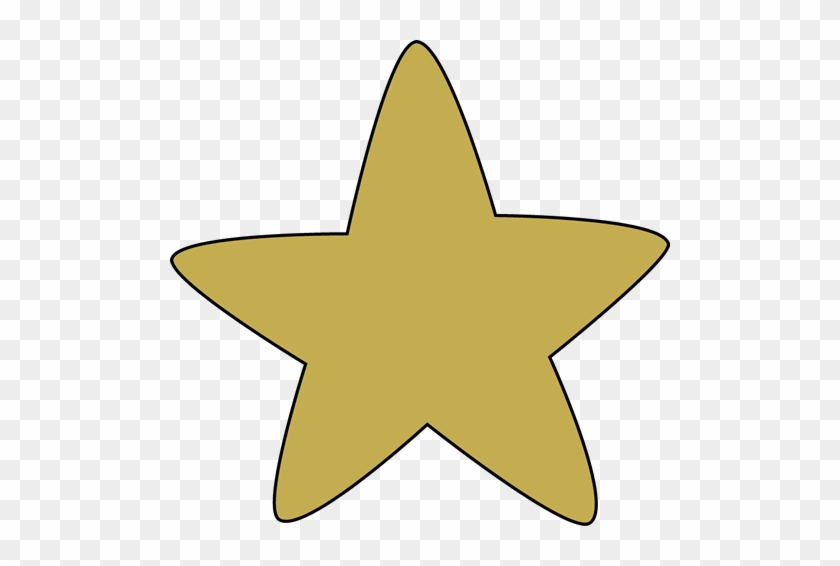 Gold Rounded Star - Star Clipart #6341