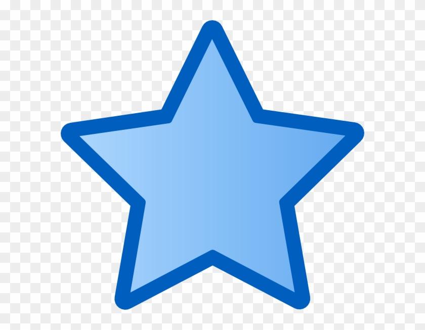 Star Outline Clipart Blue Star Clip Art At Clker Vector - Star Clipart Blue #6374