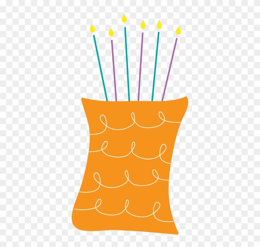 Birthday Cake Cupcake Clip Art - Orange Birthday Cake Png #6381
