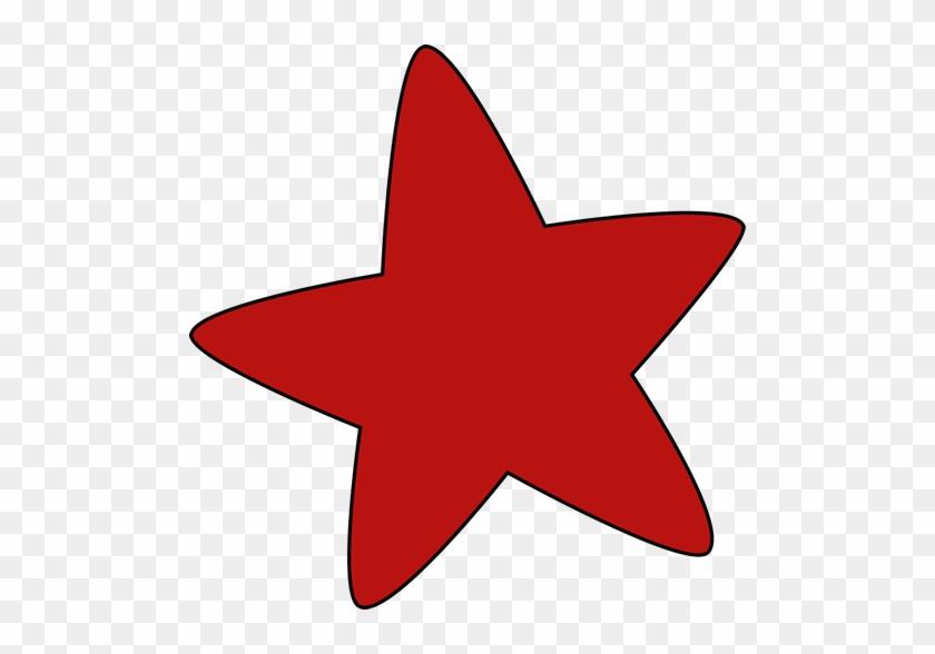 Red Clip Art - Clip Art Red Star #6379