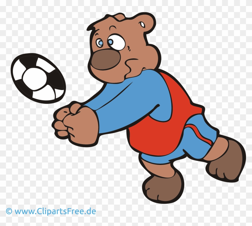 Volleyball Clipart Bild Cartoon Grafik Illustration - Volleyball Clipart #6404